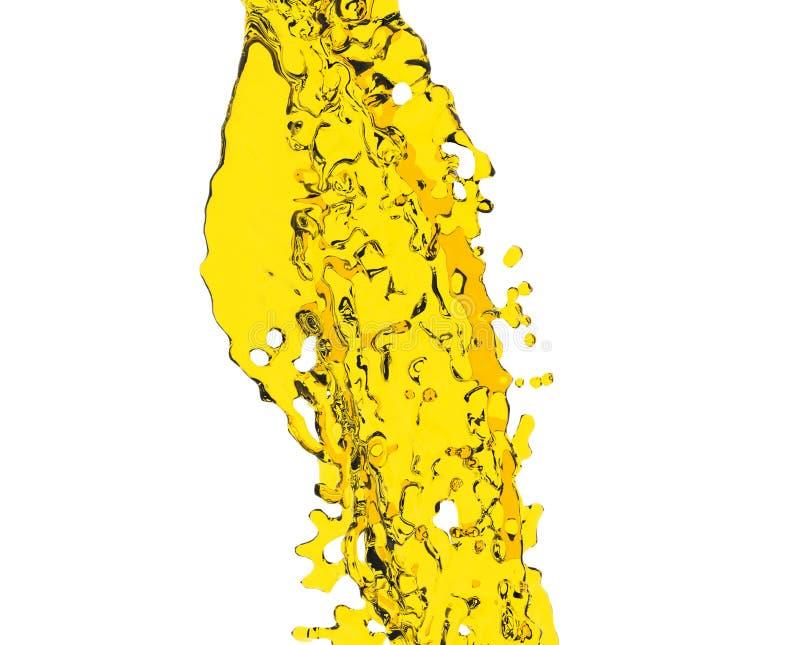Plaska för olivolja som isoleras på vit bakgrund 3d för att framföra royaltyfri illustrationer