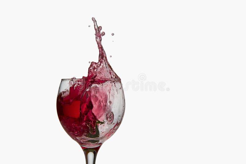 Plaska för rött vin fotografering för bildbyråer