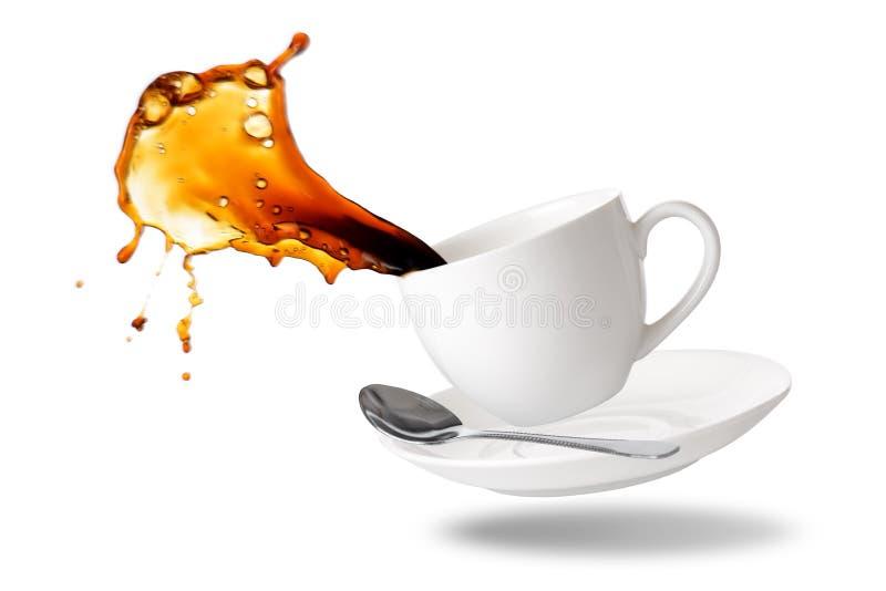 Plaska för svart kaffe royaltyfri bild