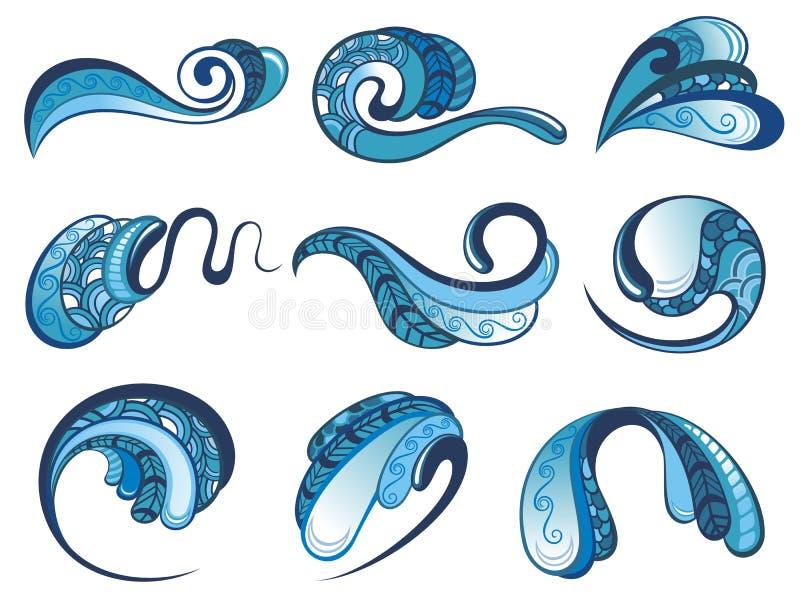 Plaska för vatten vektor illustrationer