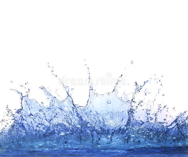 Plaska fri vatten på vitt bakgrundsbruk för uppfriskning fotografering för bildbyråer