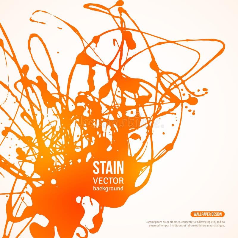 Plaska målarfärgbanret också vektor för coreldrawillustration vektor illustrationer