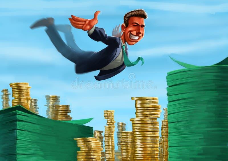 plaska pengar till royaltyfri illustrationer