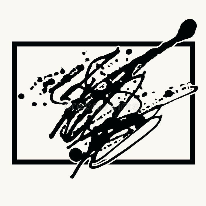 Plaska svart färgpulverbakgrund i ram royaltyfri illustrationer
