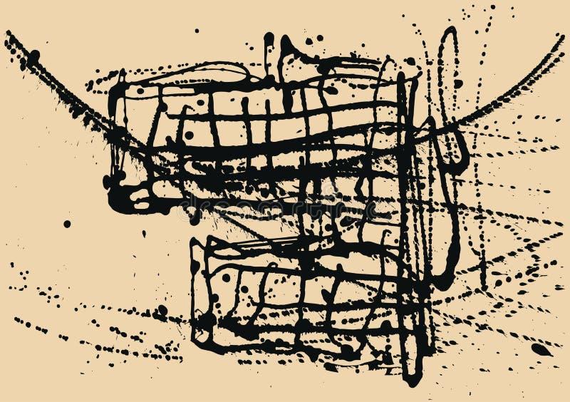 Plaska svart färgpulverkonstruktionsbakgrund stock illustrationer