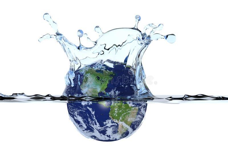 plaska vatten för jordplanet royaltyfri illustrationer
