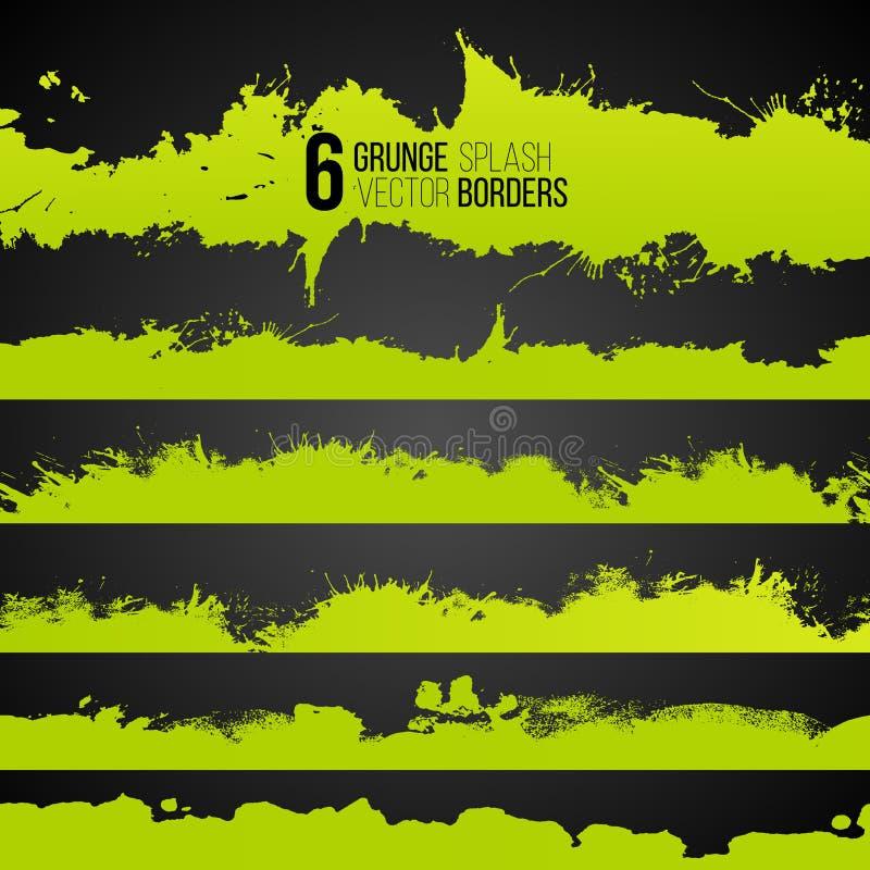 Plaskar dragen syrlig färg för Grunge samlingen royaltyfri illustrationer