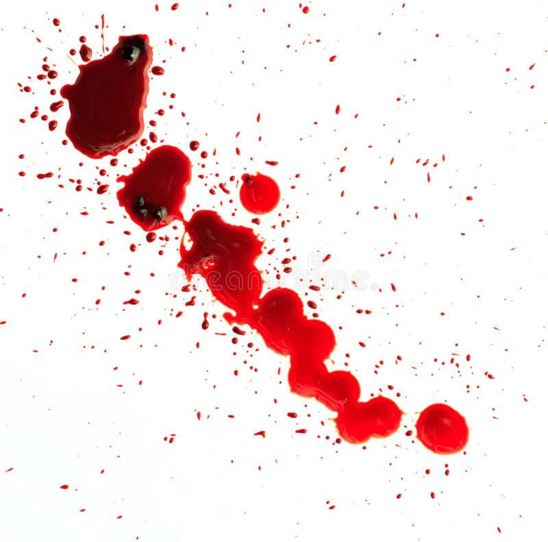 Plaskat blod royaltyfria foton