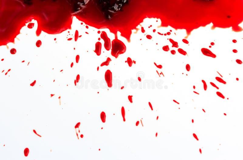 Plaskat blod arkivfoton