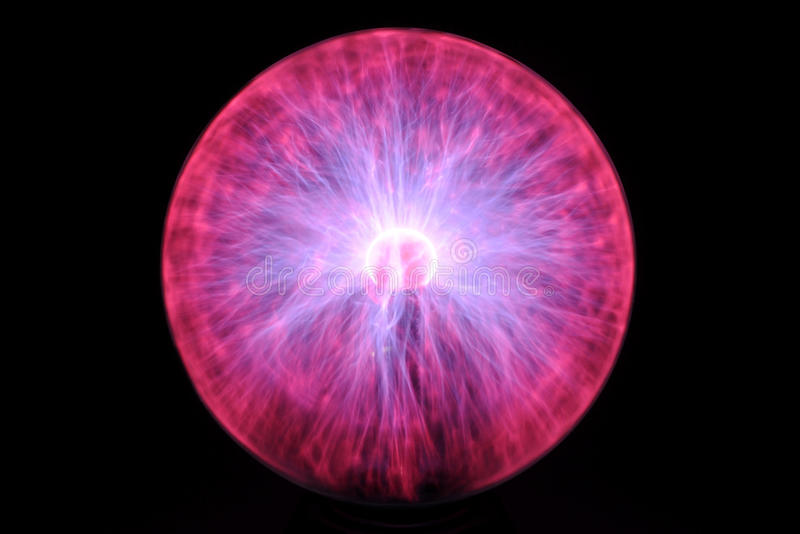 Plasma ball royalty free stock image