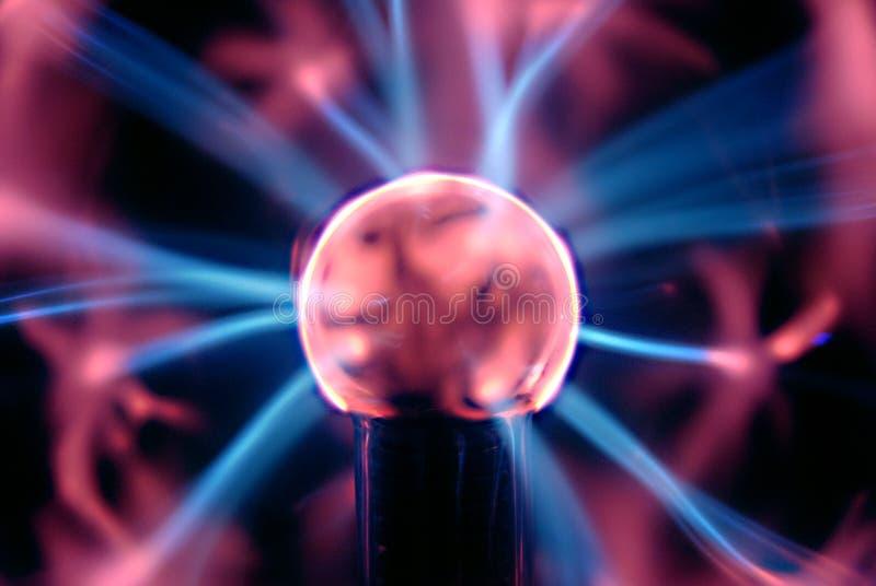 Plasma Ball. On a lightning storm royalty free stock image
