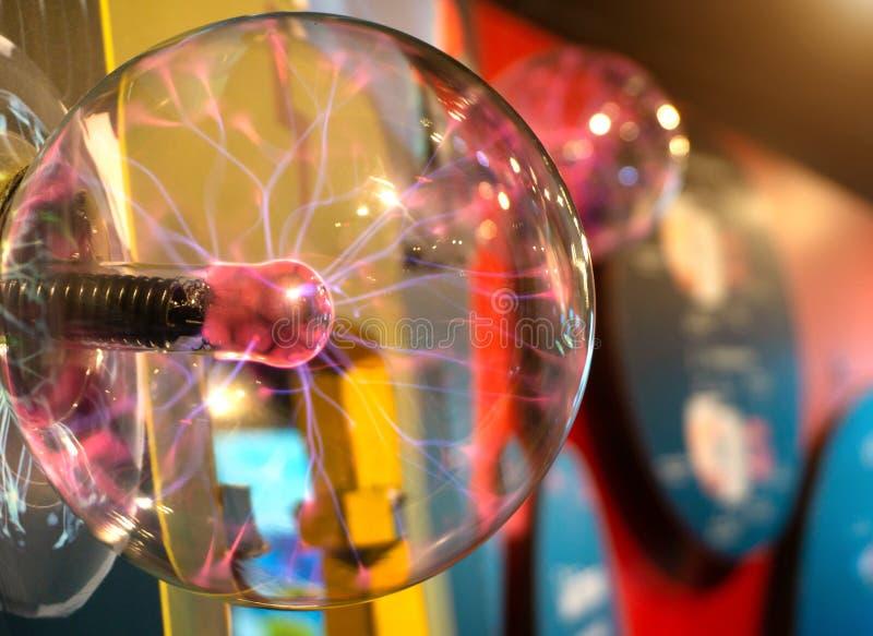 A plasma ball Image of Electric plasma education center royalty free stock photos
