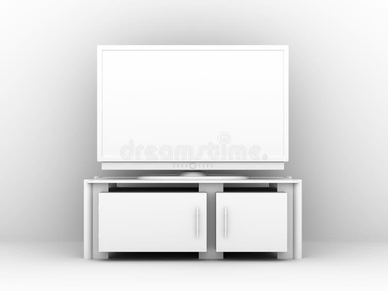 Plasma blanca TV ilustración del vector