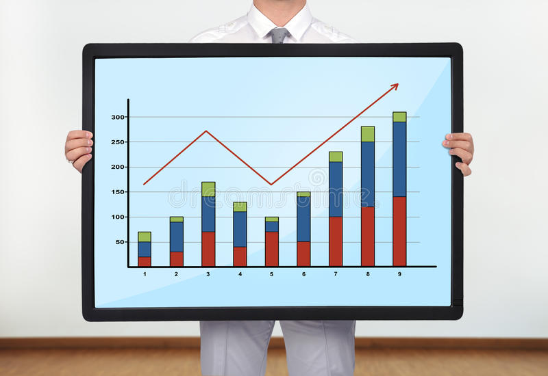 Download Plasma with chart stock image. Image of growth, communication - 34271669