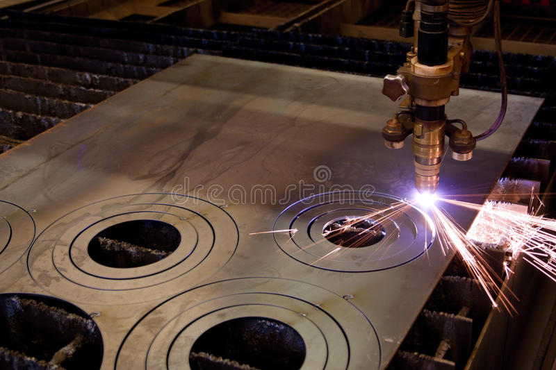 Plasma cutting royalty free stock photography