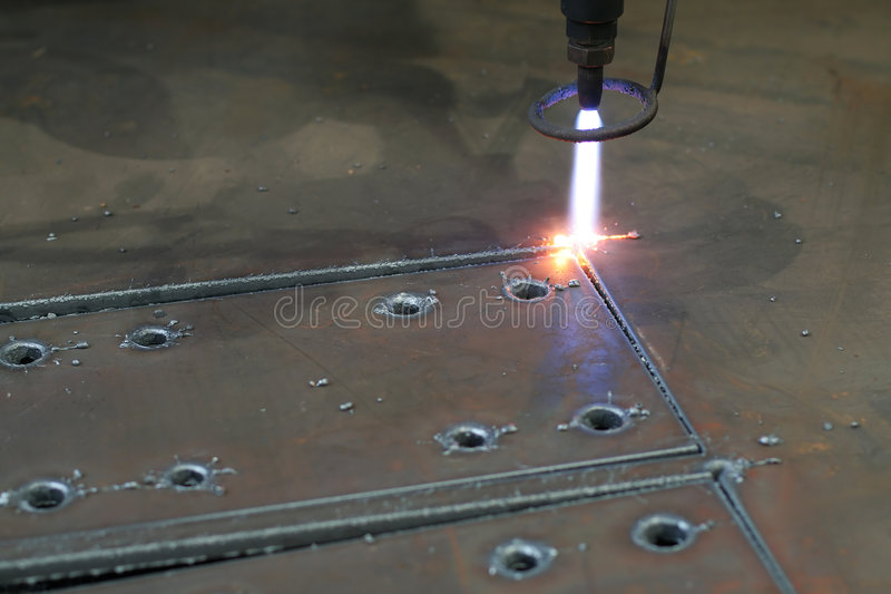 Plasma cutting stock image