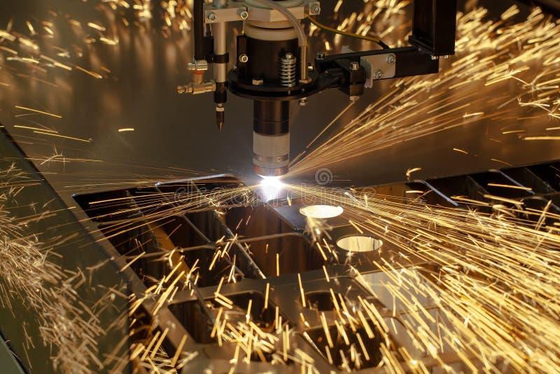 Plasma cutting metalwork industry machine stock images
