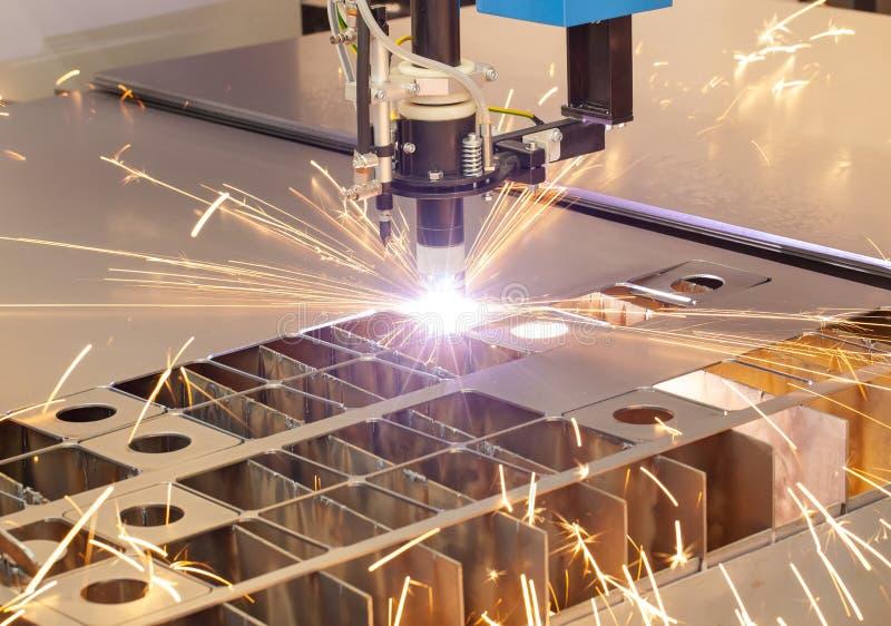 Plasma cutting metalwork industry machine royalty free stock photos
