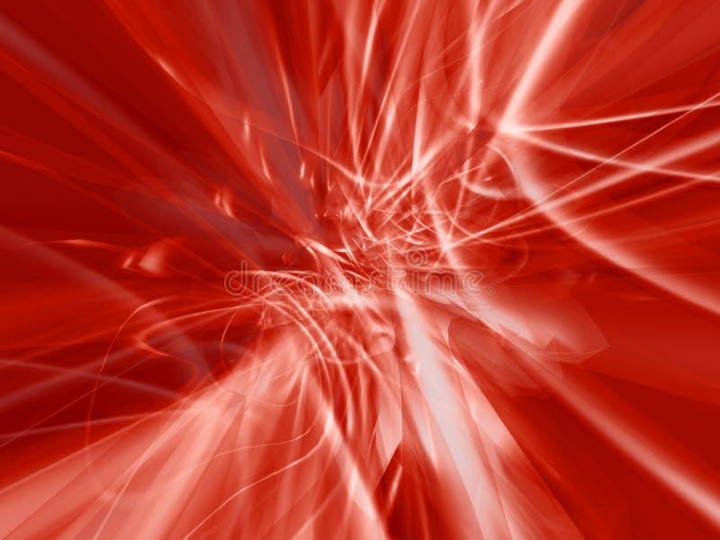 Plasma digital vermelho ilustração royalty free