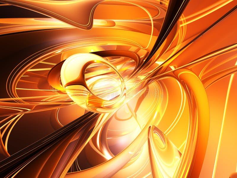 Plasma dorato illustrazione vettoriale