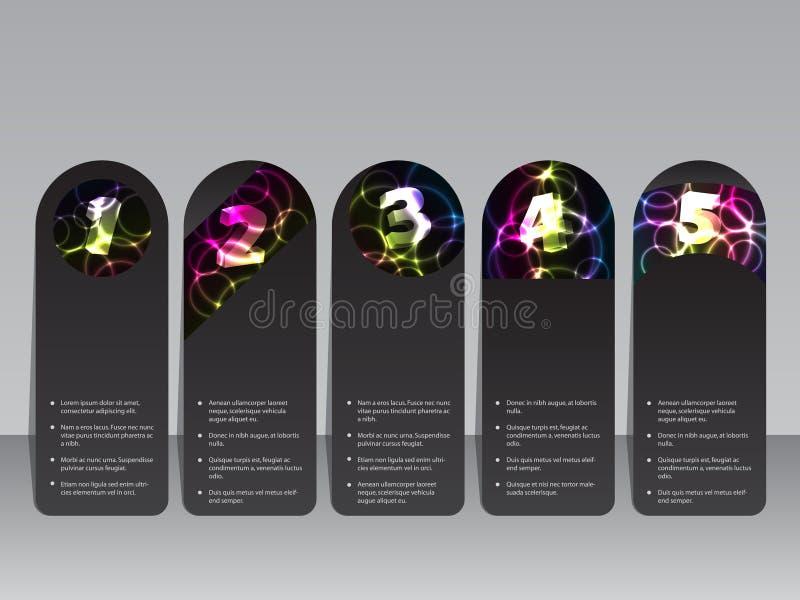 Plasma effect label set stock illustration