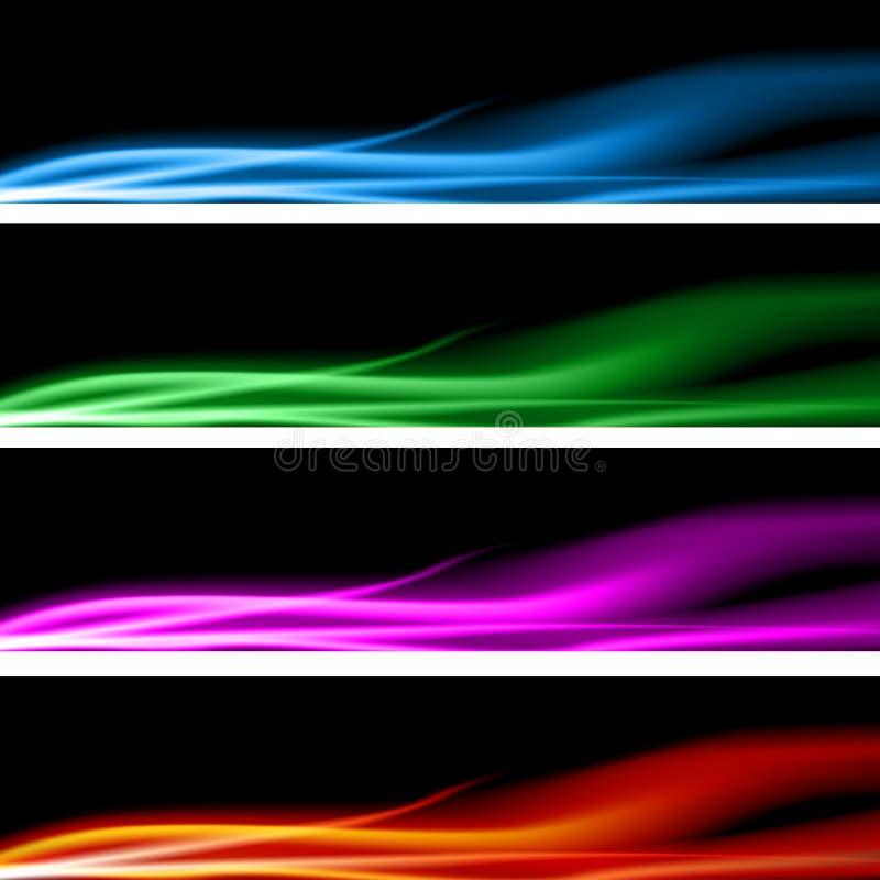 Plasma-Energie-Fahnen-Set lizenzfreie abbildung