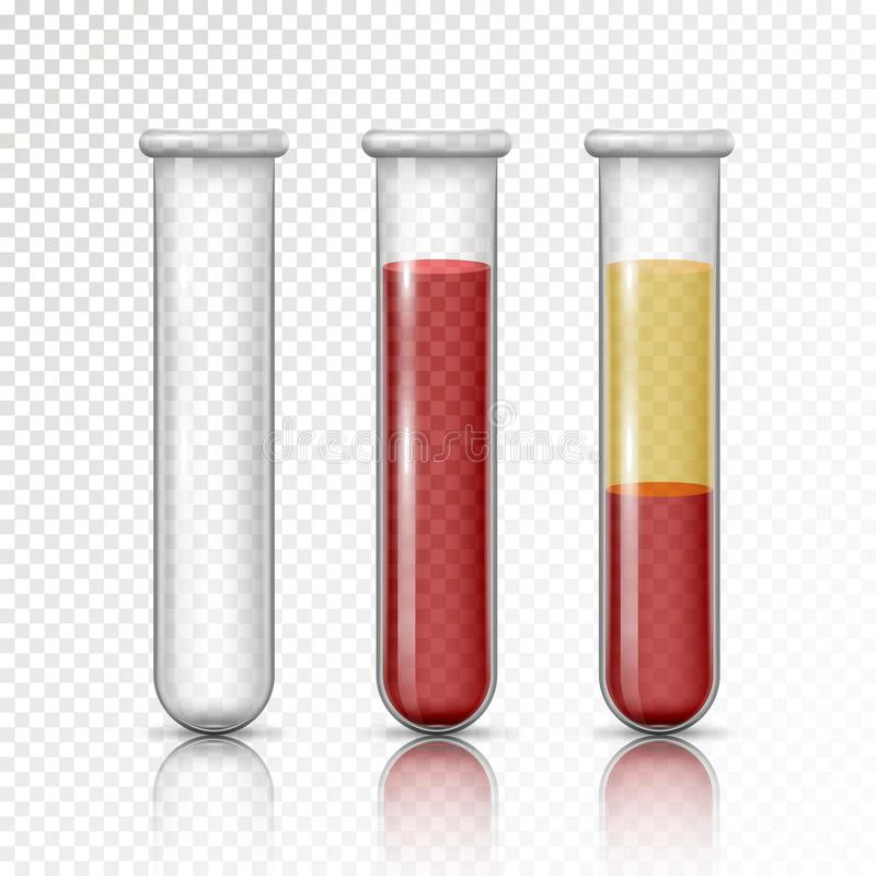 Plasma et globules rouges de couches illustration stock