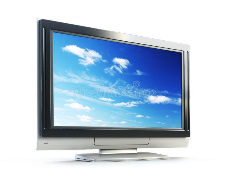 Plasma Fernsehapparat stock abbildung