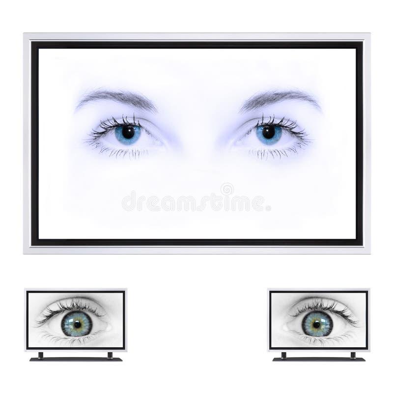 Plasma Fernsehapparat stockbild