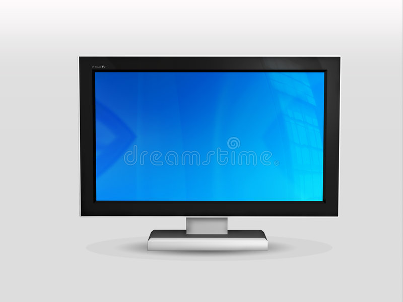 Plasma Fernsehapparat vektor abbildung
