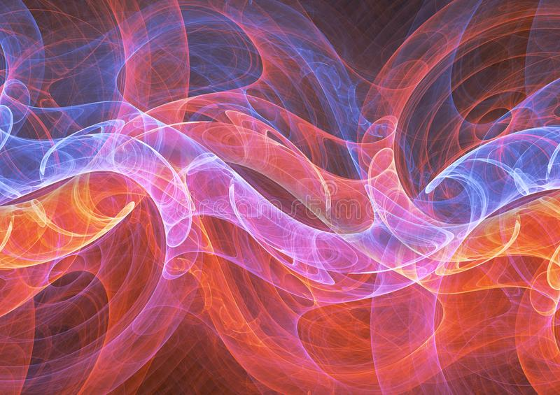 Plasma flow. Hot fire and cold ice plasma flow royalty free illustration
