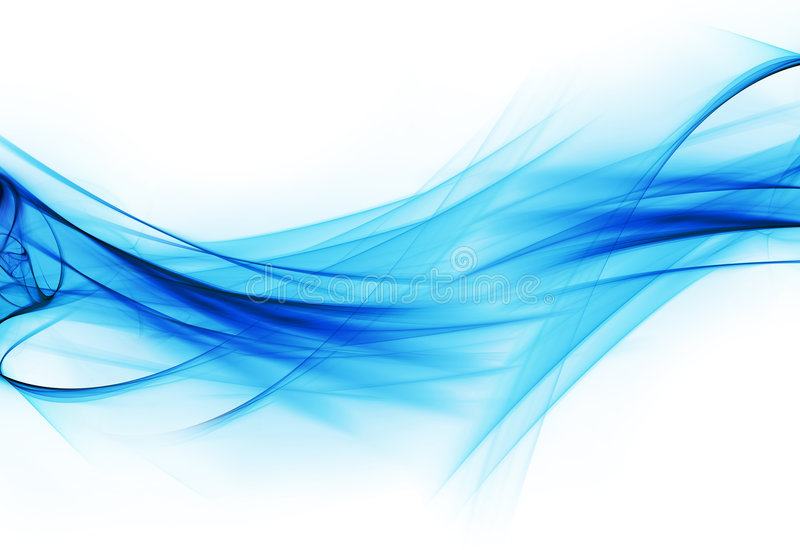 Plasma fractal flow. Abstract fractal illustration of flowing blue plasma stock illustration