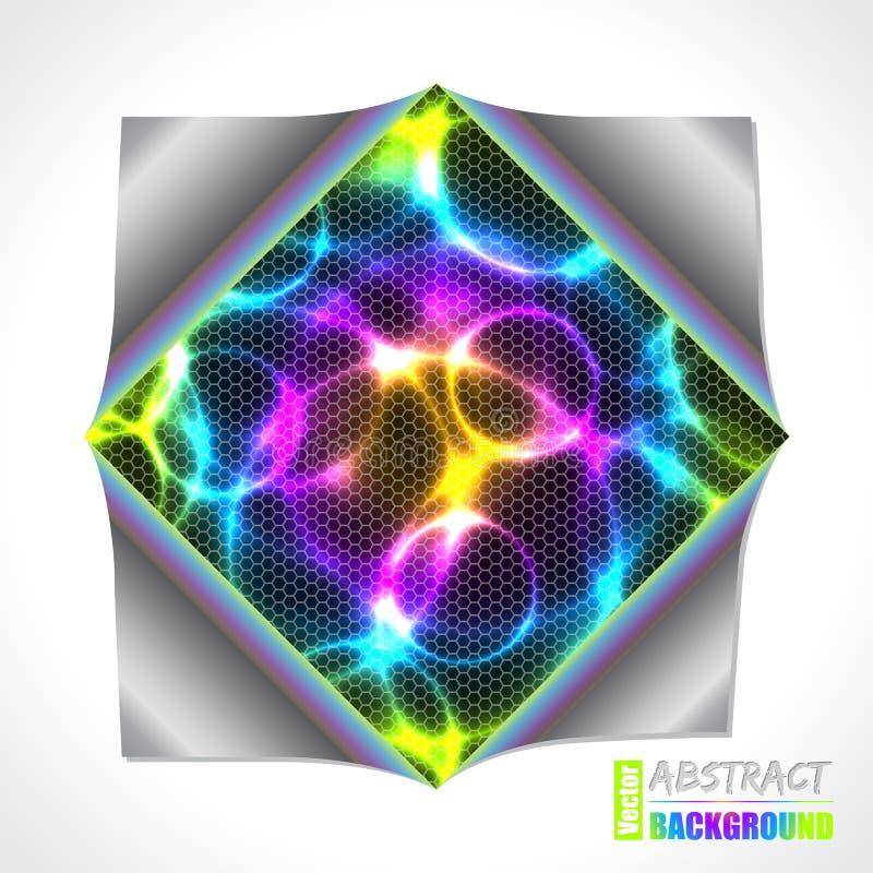 Plasma fresca y folleto del laser con el papel doblado stock de ilustración