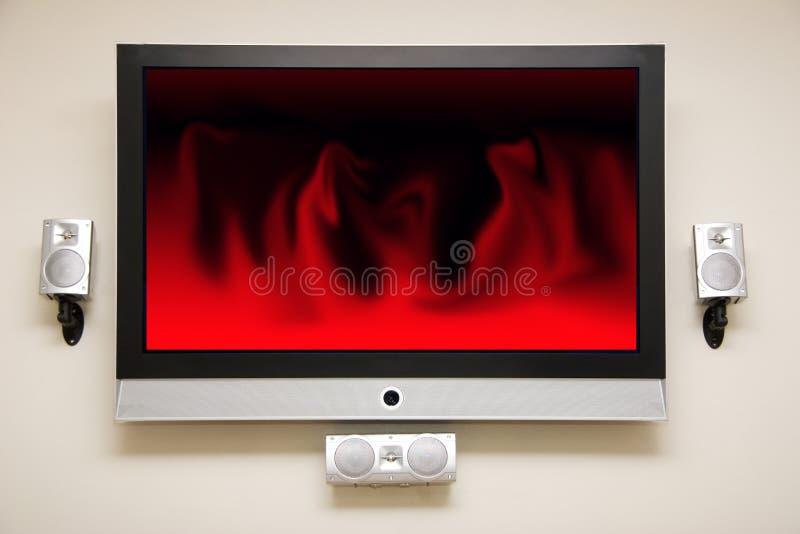 Plasma a grande schermo fotografia stock libera da diritti