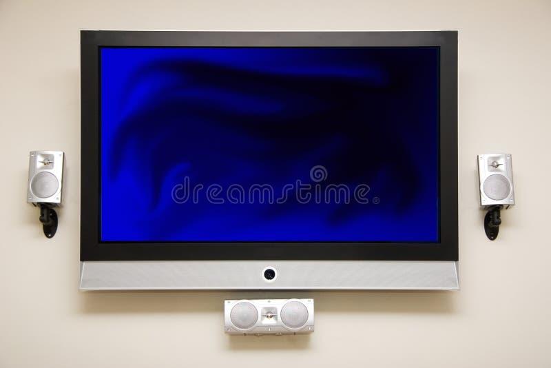 Plasma HDTV royalty-vrije stock foto