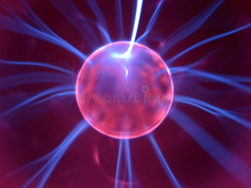 Plasma lamp 9 stock image