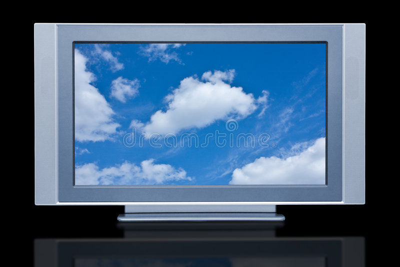 Plasma LCD HDTV Display Royalty Free Stock Photo