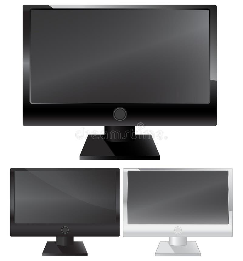 Download Plasma lcd monitor stock vector. Illustration of eyesight - 13997378