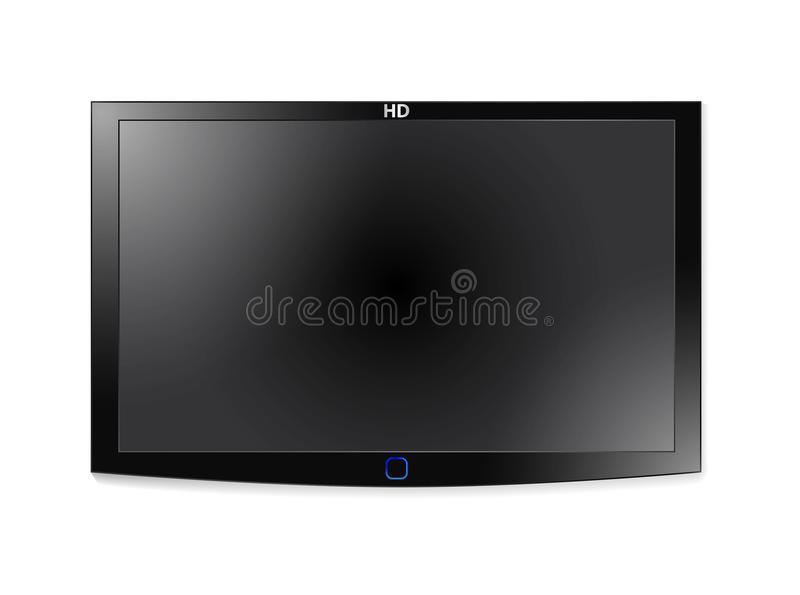 Plasma Lcd Tv royalty free illustration