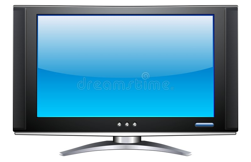 Plasma LCD TV. A vector image of a plasma LCD TV