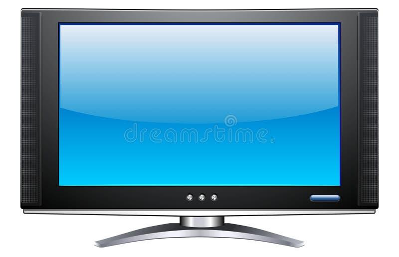 Plasma LCD TV. A vector image of a plasma LCD TV royalty free illustration