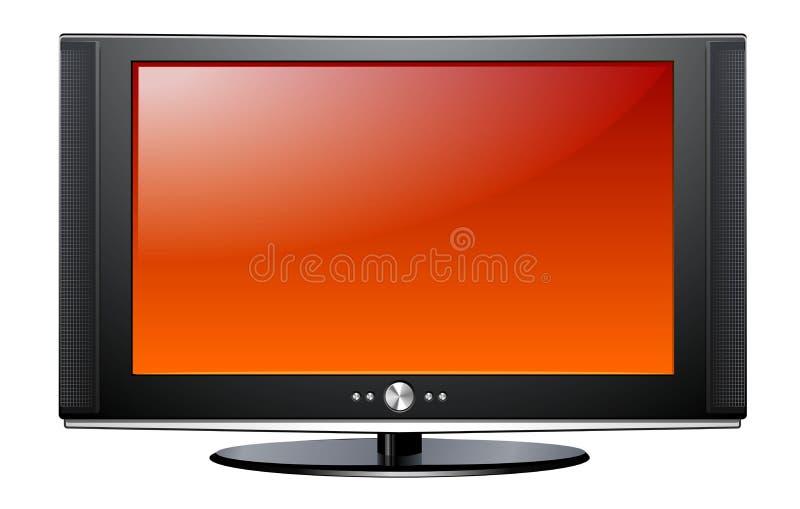 Plasma LCD TV royalty free illustration