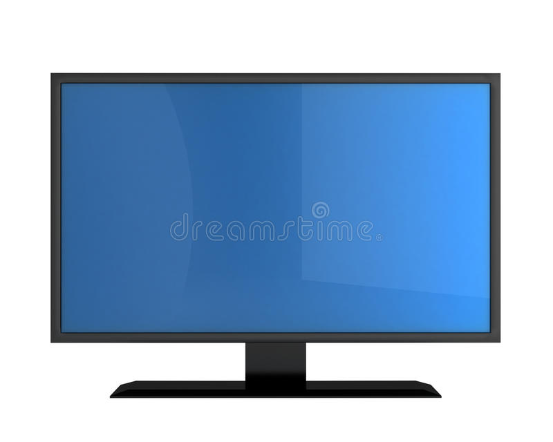 Plasma monitor with empty screen. For your text isolated on white vector illustration