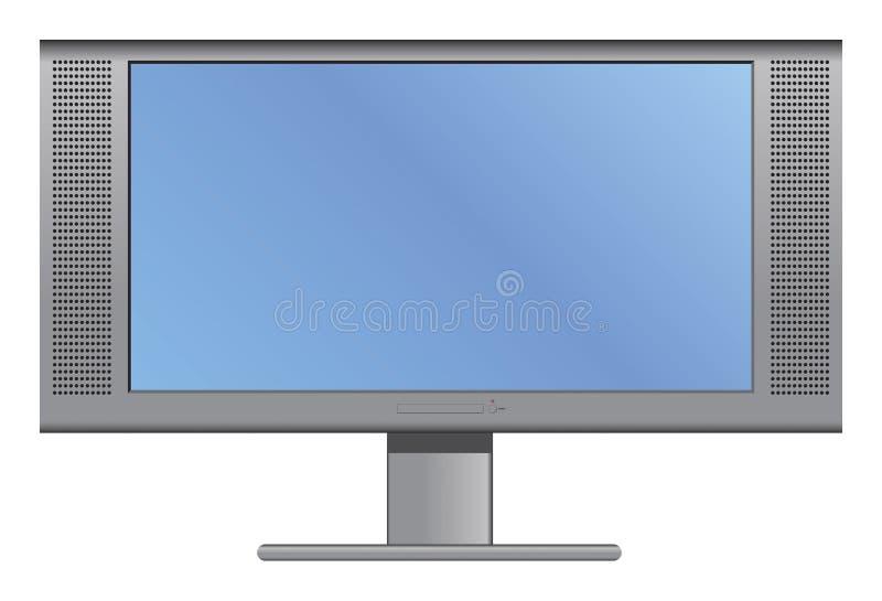 Plasma o televisione dell'affissione a cristalli liquidi illustrazione di stock