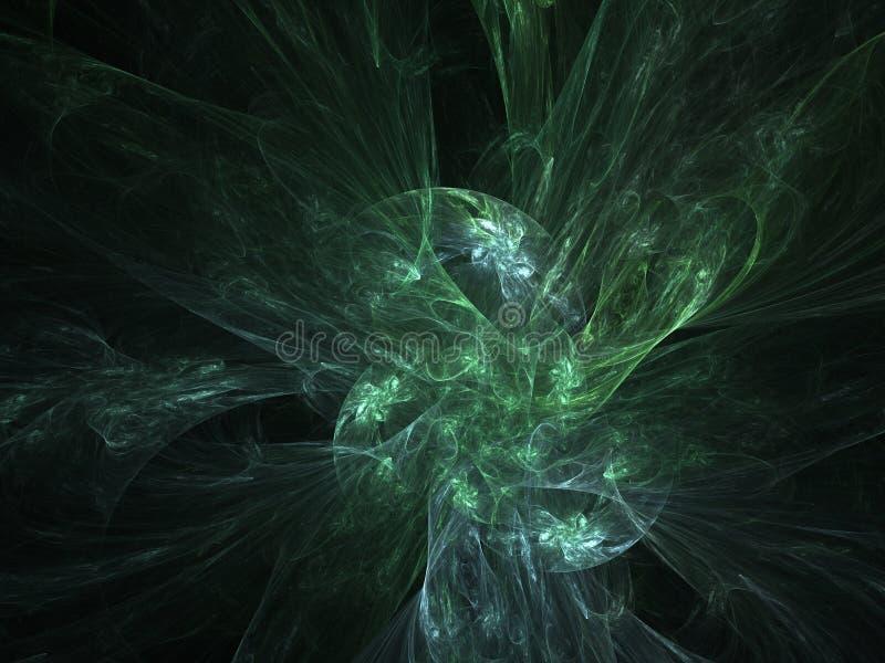Plasma rougeoyant vert de fractale illustration de vecteur