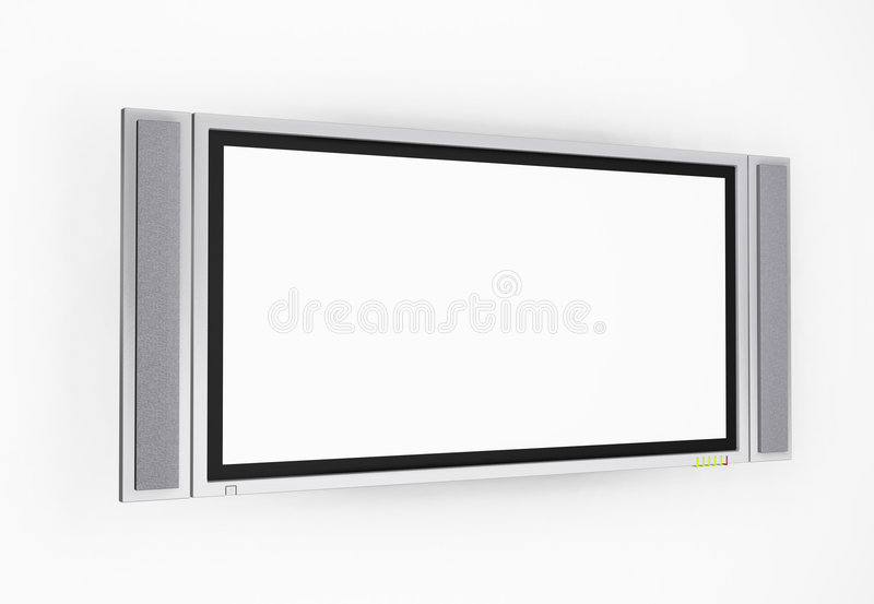 Plasma screen television stock illustration