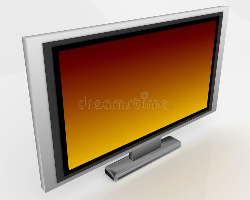 Plasma TV 003 ilustración del vector