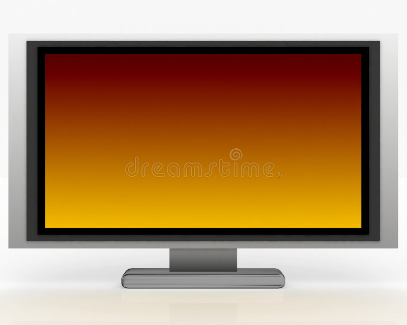 Plasma Tv 004 stock illustration
