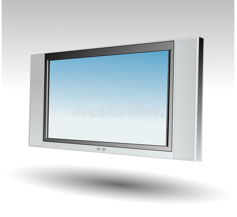 Plasma TV royalty free stock photography