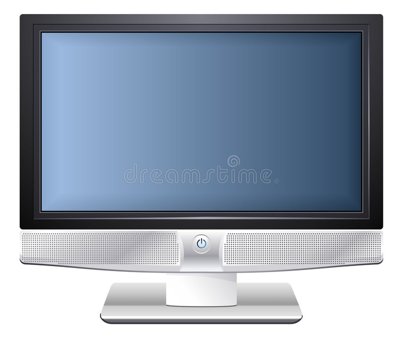 Download Plasma TV stock vector. Image of eyesight, blue, movies - 3012451